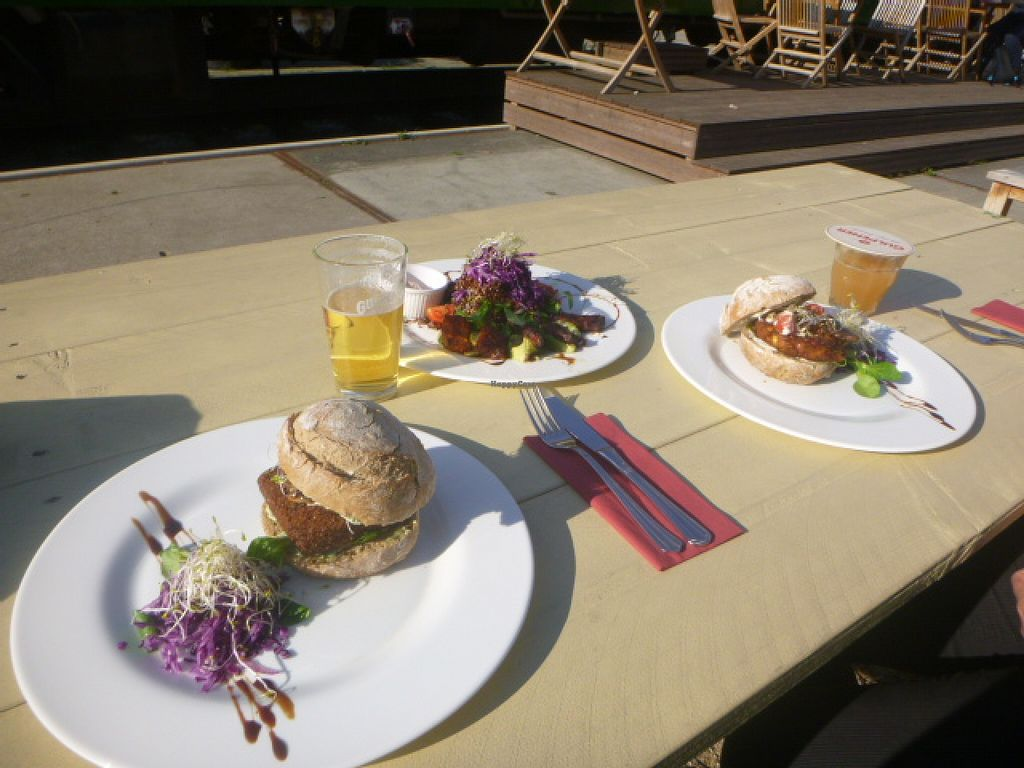 """Photo of Gare du Nord  by <a href=""""/members/profile/IrisEffendi"""">IrisEffendi</a> <br/> We had the burger, the hazelnut burger, and the quinoa salad.  <br/> October 13, 2015  - <a href='/contact/abuse/image/46877/121233'>Report</a>"""