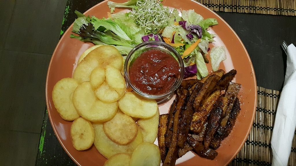 """Photo of Kozmosz Vegan Etterem  by <a href=""""/members/profile/RimaBarakat"""">RimaBarakat</a> <br/>Seitan with barbecue sauce  <br/> October 16, 2017  - <a href='/contact/abuse/image/46900/315981'>Report</a>"""