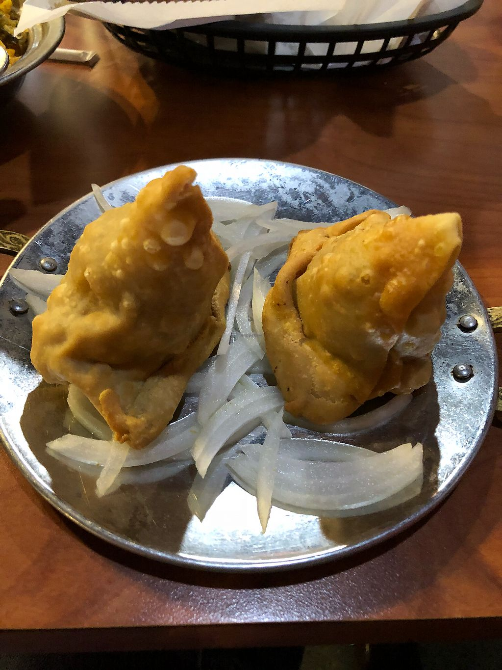 """Photo of Funky Desi  by <a href=""""/members/profile/Jadediana"""">Jadediana</a> <br/>Vegetable samosas  <br/> April 5, 2018  - <a href='/contact/abuse/image/46908/381237'>Report</a>"""