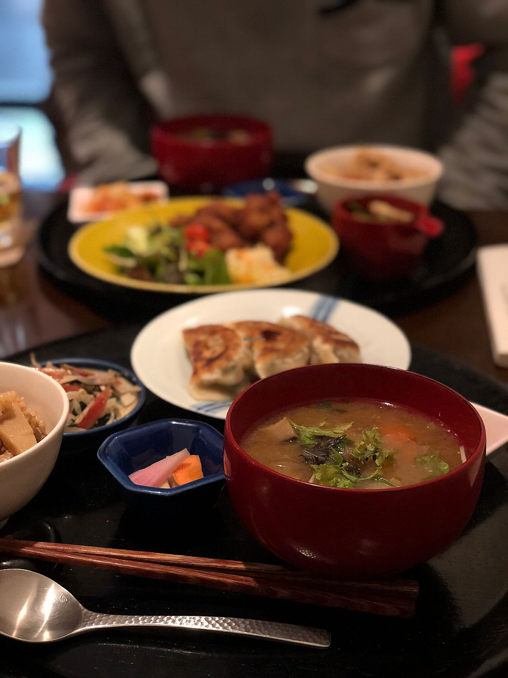 """Photo of Komenoko  by <a href=""""/members/profile/CarlyHitchcock"""">CarlyHitchcock</a> <br/>Delicious gyoza set! <br/> January 28, 2018  - <a href='/contact/abuse/image/46924/351948'>Report</a>"""