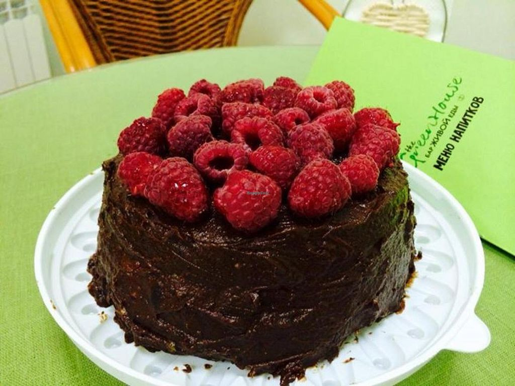 """Photo of The Green House  by <a href=""""/members/profile/community"""">community</a> <br/>Chocolate-raspberry cake <br/> June 24, 2014  - <a href='/contact/abuse/image/46927/72692'>Report</a>"""