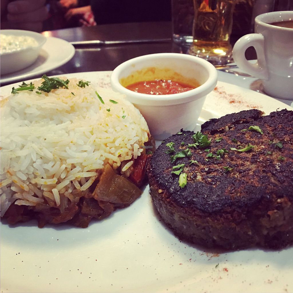 """Photo of Caprice Cafe  by <a href=""""/members/profile/AmandaFay"""">AmandaFay</a> <br/>lentil steak <br/> January 7, 2017  - <a href='/contact/abuse/image/46932/209355'>Report</a>"""