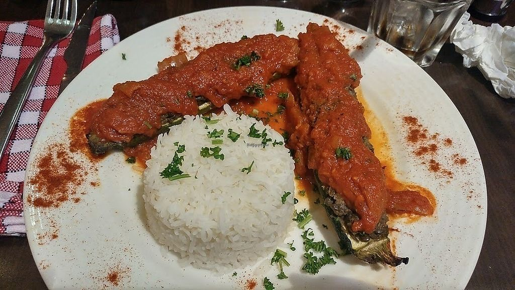 """Photo of Caprice Cafe  by <a href=""""/members/profile/SaraMarkic"""">SaraMarkic</a> <br/>stuffed zucchinis which were ok <br/> December 5, 2017  - <a href='/contact/abuse/image/46932/332600'>Report</a>"""