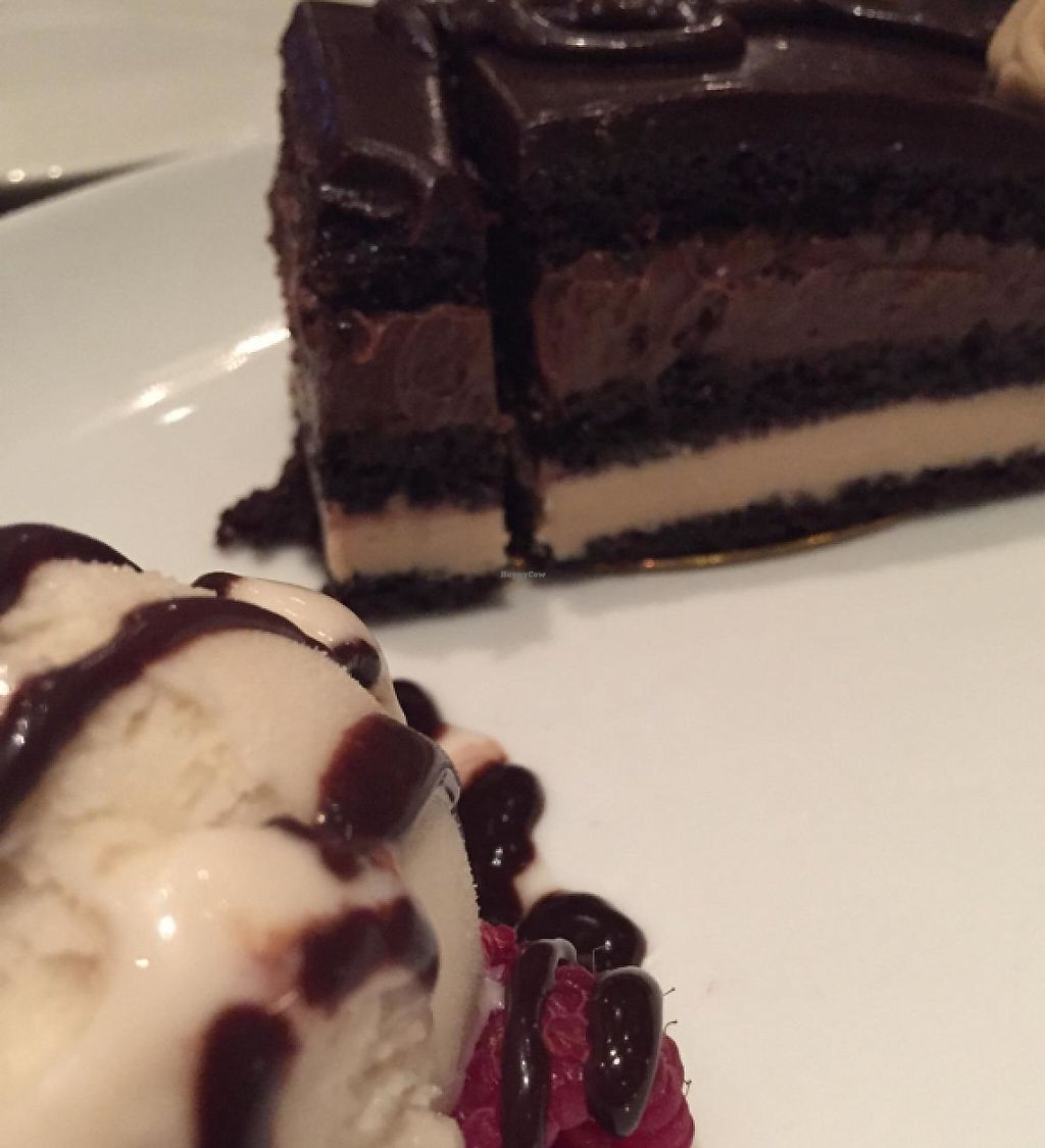 """Photo of Farmer's Table  by <a href=""""/members/profile/Ellenkm"""">Ellenkm</a> <br/>Opera cake- vegan and decadent! with So Delicious ice cream <br/> April 1, 2015  - <a href='/contact/abuse/image/46952/194966'>Report</a>"""