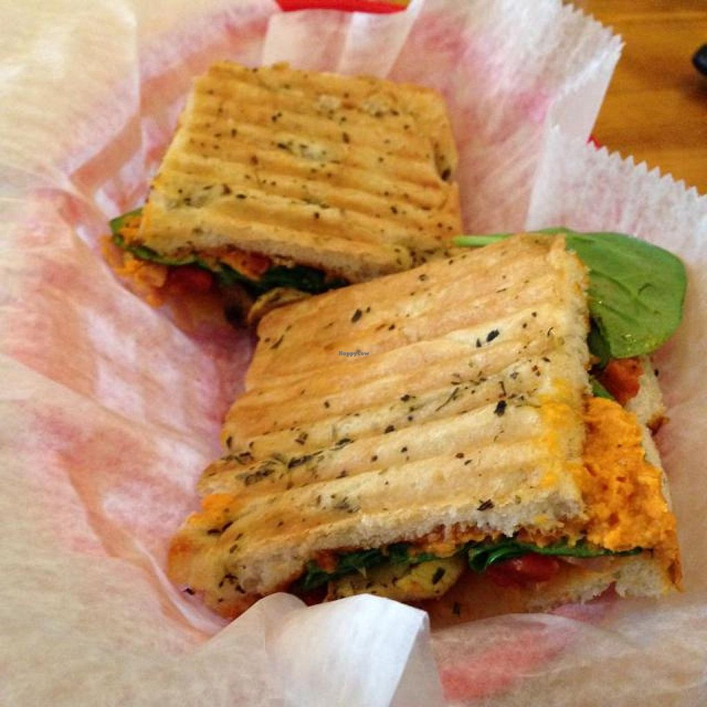 "Photo of Outer Bean Juice and Java  by <a href=""/members/profile/ohemgee"">ohemgee</a> <br/>vegan panini <br/> June 24, 2014  - <a href='/contact/abuse/image/46963/72638'>Report</a>"