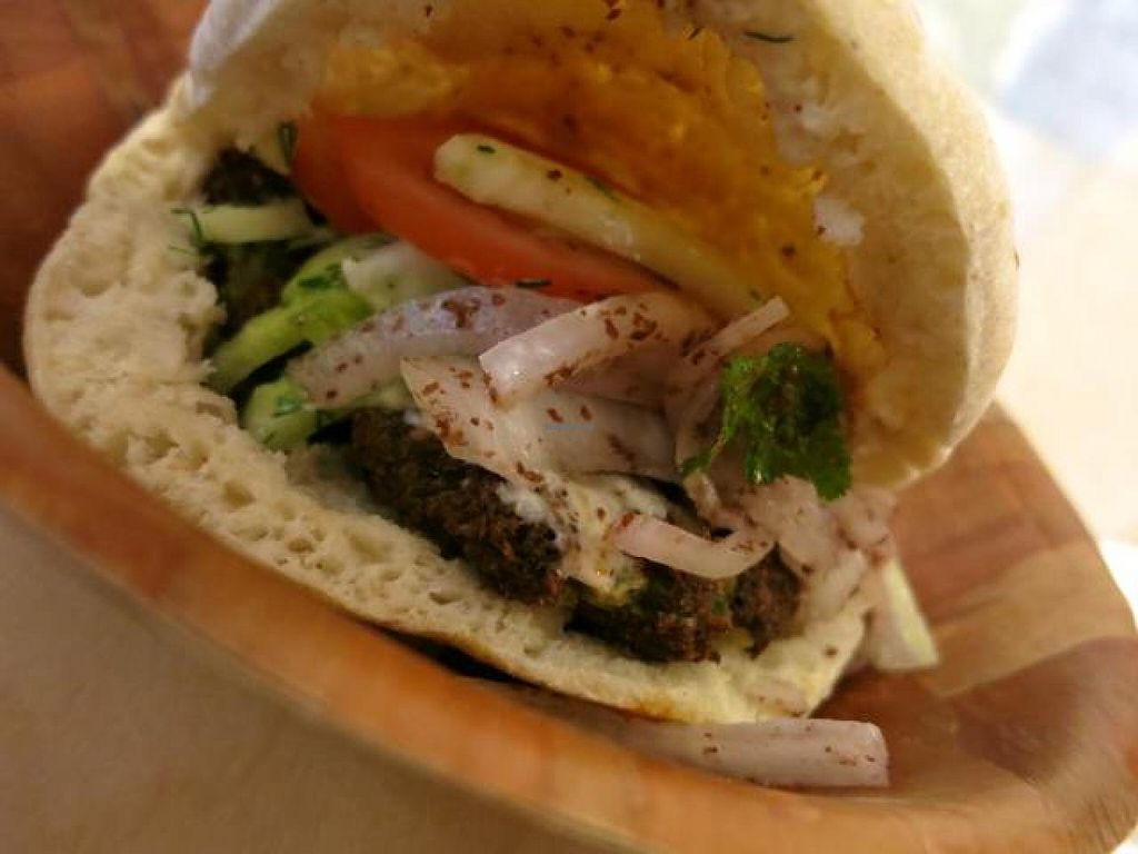 "Photo of Falafel Tof  by <a href=""/members/profile/Chnanis"">Chnanis</a> <br/>Falafel sandwich <br/> August 21, 2014  - <a href='/contact/abuse/image/46997/77778'>Report</a>"