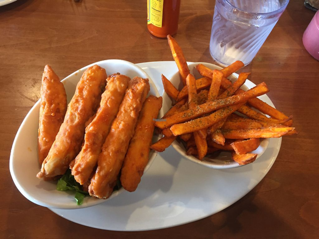 """Photo of Native Foods - Point Loma  by <a href=""""/members/profile/Gregpope410"""">Gregpope410</a> <br/>wings and fries <br/> December 6, 2016  - <a href='/contact/abuse/image/46998/197929'>Report</a>"""
