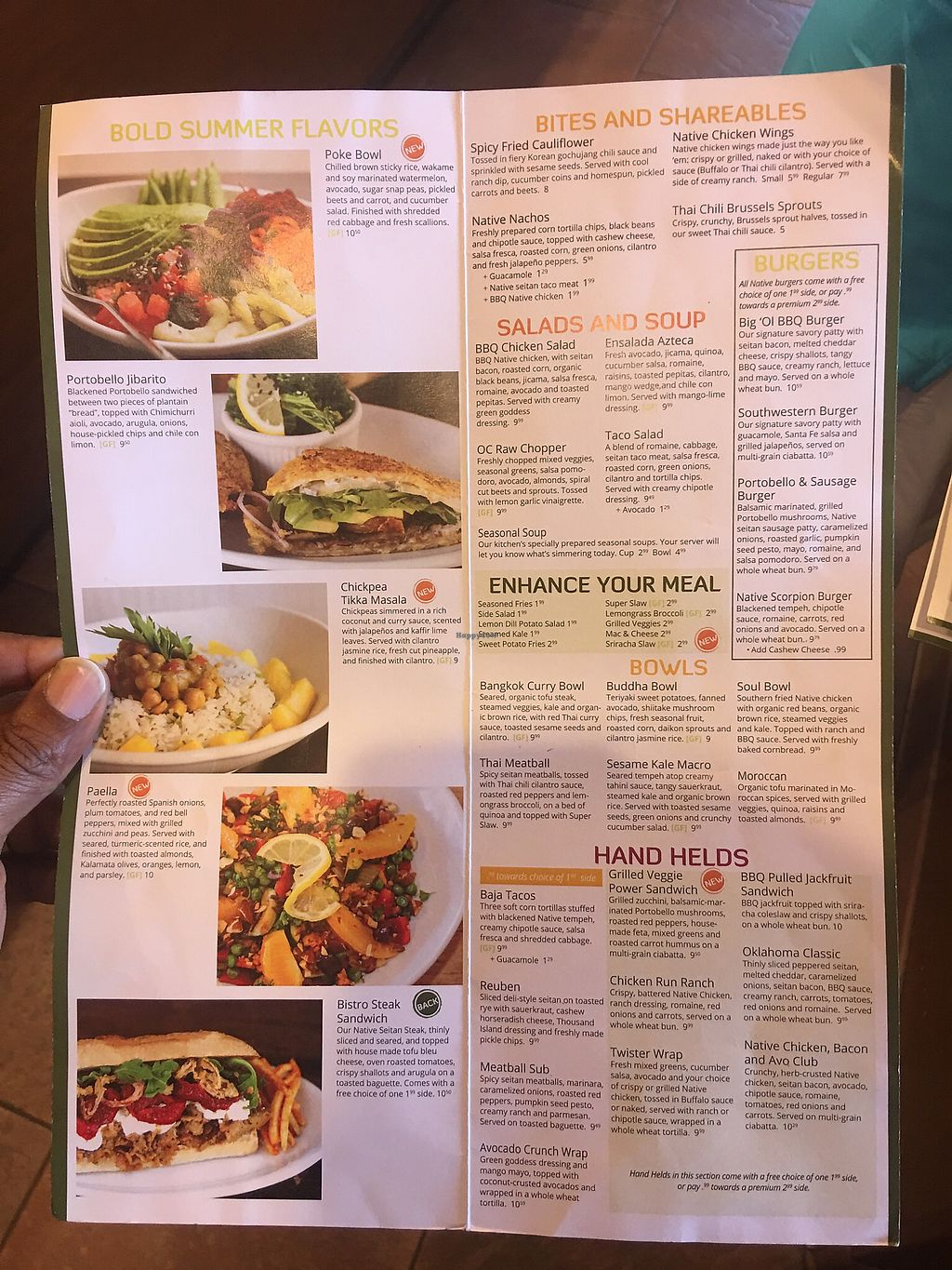 """Photo of Native Foods - Point Loma  by <a href=""""/members/profile/St_whit"""">St_whit</a> <br/>Menu <br/> September 23, 2017  - <a href='/contact/abuse/image/46998/307620'>Report</a>"""