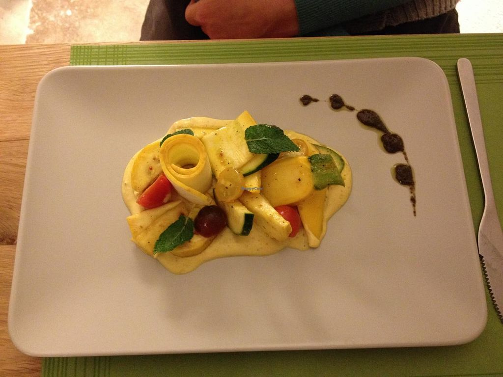 """Photo of Graine de Soleil  by <a href=""""/members/profile/loloford"""">loloford</a> <br/>Raw dish with zucchini <br/> July 19, 2015  - <a href='/contact/abuse/image/47018/109878'>Report</a>"""