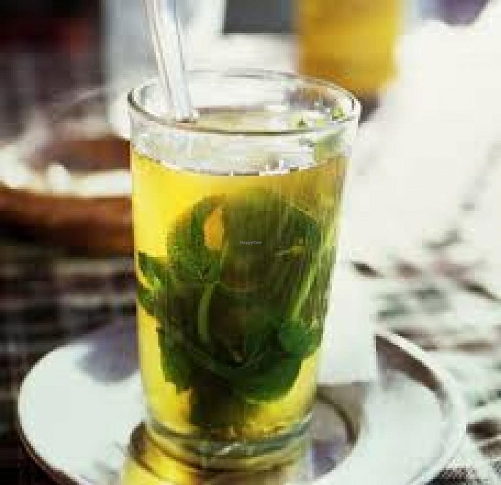 """Photo of Beit Yosef Cafe  by <a href=""""/members/profile/Laurie%20Rappeport"""">Laurie Rappeport</a> <br/>herbal tea (fresh herbs!) <br/> July 31, 2014  - <a href='/contact/abuse/image/47113/75686'>Report</a>"""