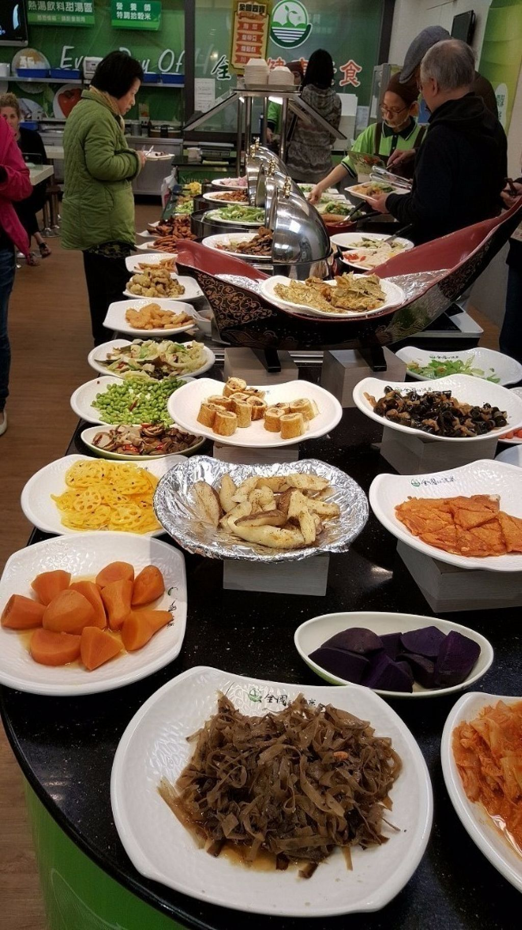 """Photo of Country Health - Tianmu  by <a href=""""/members/profile/yogiexplorer"""">yogiexplorer</a> <br/>Vegan buffet dishes <br/> July 30, 2016  - <a href='/contact/abuse/image/47139/163308'>Report</a>"""