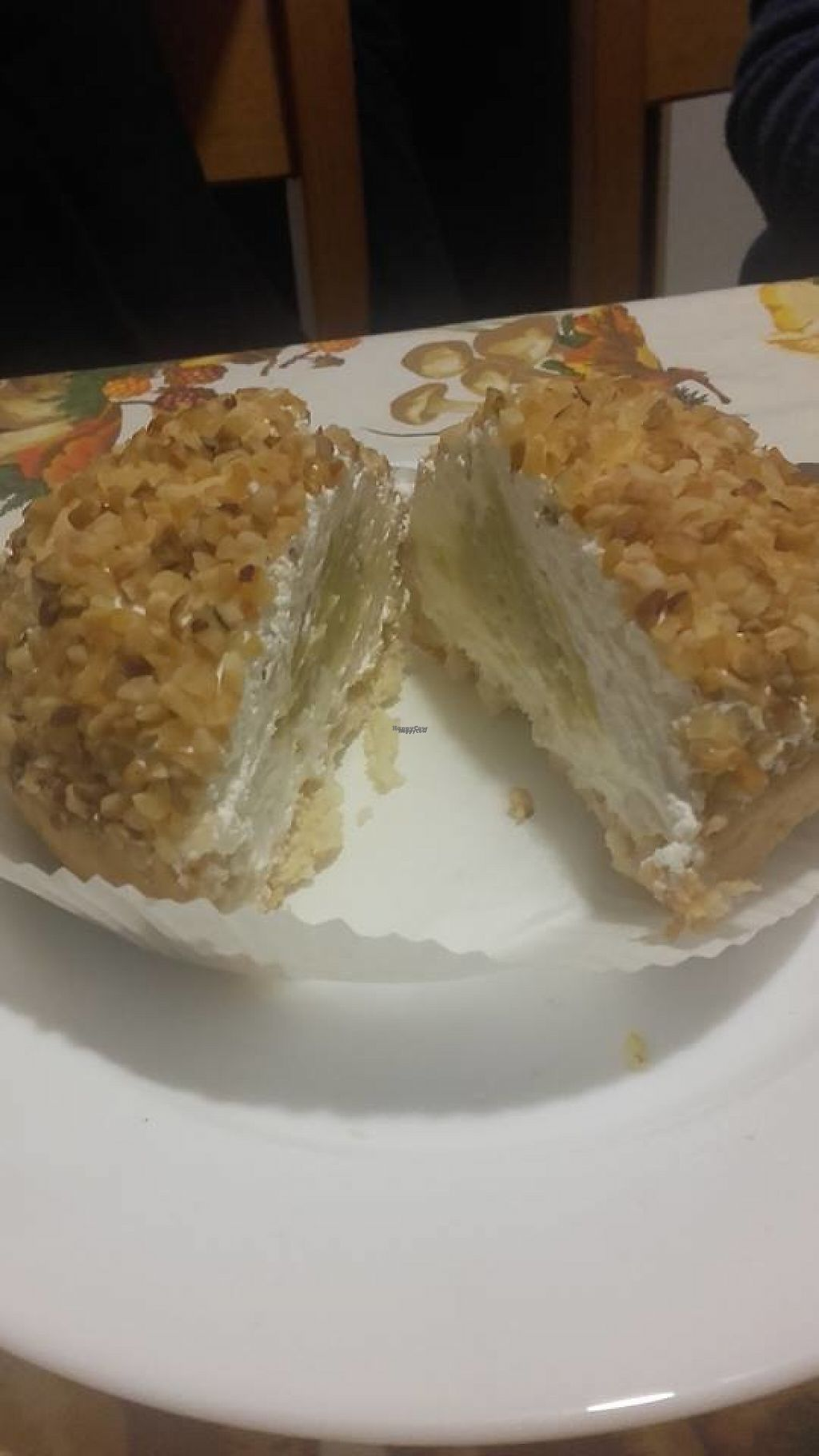 """Photo of Universo Vegano  by <a href=""""/members/profile/SimoneT"""">SimoneT</a> <br/>Cuor di Crema - Heart of cream. This dessert is incredible, covered in cream and hazelnut crumbs, full of crema pasticcera (kind of like custard) <br/> February 15, 2017  - <a href='/contact/abuse/image/47226/226921'>Report</a>"""