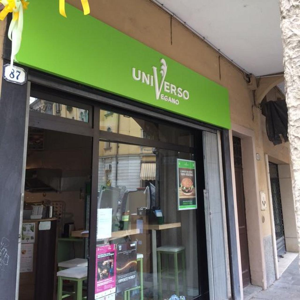 """Photo of Universo Vegano  by <a href=""""/members/profile/Happy%20Veg%20Man"""">Happy Veg Man</a> <br/>exterior.  <br/> May 8, 2014  - <a href='/contact/abuse/image/47226/69609'>Report</a>"""