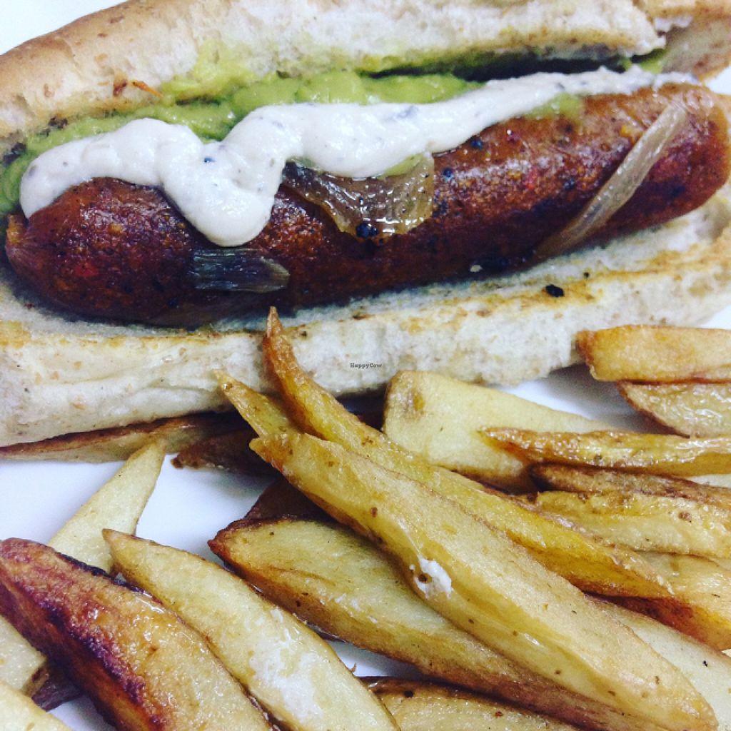 "Photo of Avocado Vegetariano - Santa Gertrudis Copo  by <a href=""/members/profile/boruzo"">boruzo</a> <br/>vegan hot dog, home made mayonnaise <br/> February 22, 2016  - <a href='/contact/abuse/image/47239/137361'>Report</a>"