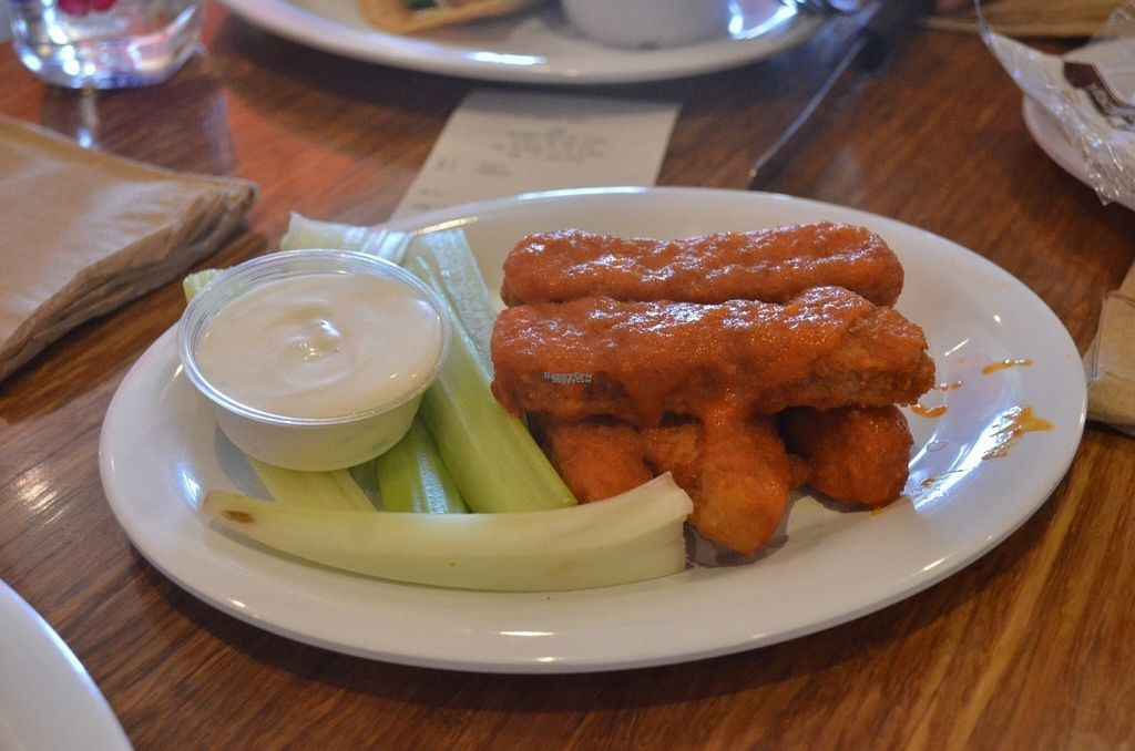 """Photo of Veggie Grill  by <a href=""""/members/profile/alexandra_vegan"""">alexandra_vegan</a> <br/>Buffalo Wings (tasty and just a bit spicy) <br/> August 25, 2016  - <a href='/contact/abuse/image/47261/171318'>Report</a>"""