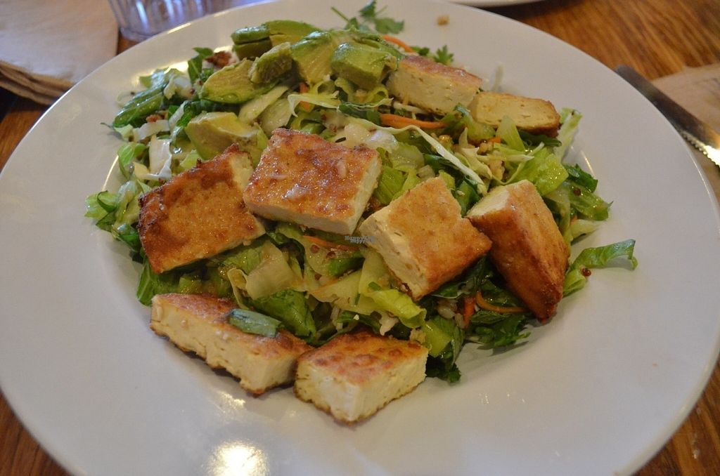 """Photo of Veggie Grill  by <a href=""""/members/profile/alexandra_vegan"""">alexandra_vegan</a> <br/>Summer Special CRISPY GRAINS AND GREENS BOWL (good but not the best, crispy tofu was quite good) <br/> August 25, 2016  - <a href='/contact/abuse/image/47261/171319'>Report</a>"""