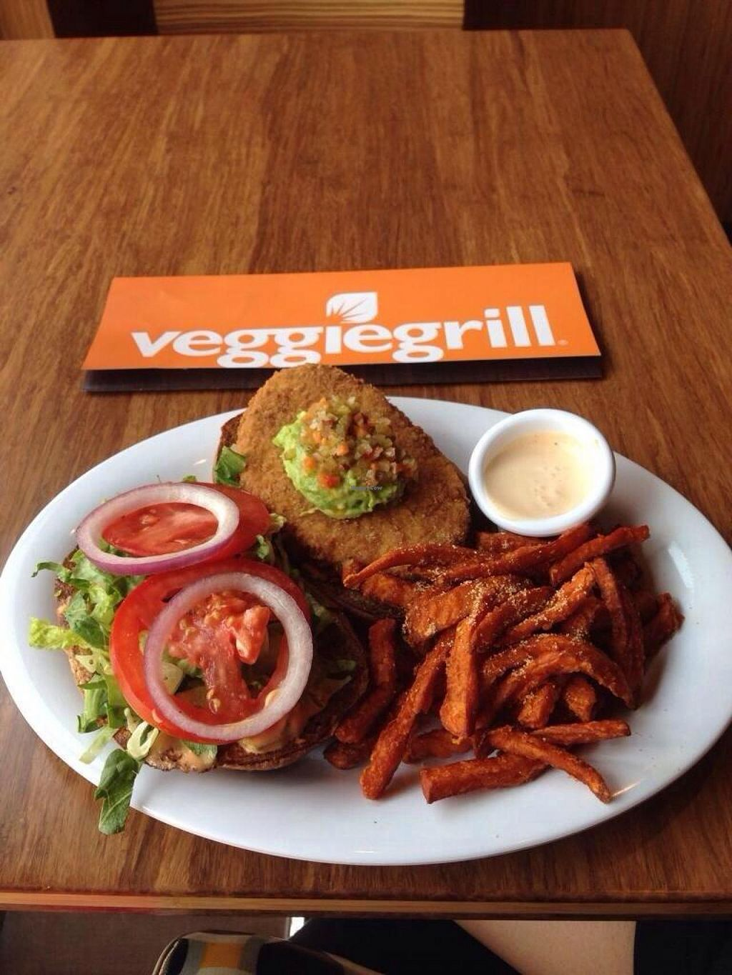 """Photo of Veggie Grill  by <a href=""""/members/profile/Carioquinha17"""">Carioquinha17</a> <br/>This is their Santa Fe Chickin Burger and the sweet potato fries. It was amazingly delicious! Their chipotle ranch sauce is to die for <br/> May 11, 2014  - <a href='/contact/abuse/image/47261/69828'>Report</a>"""