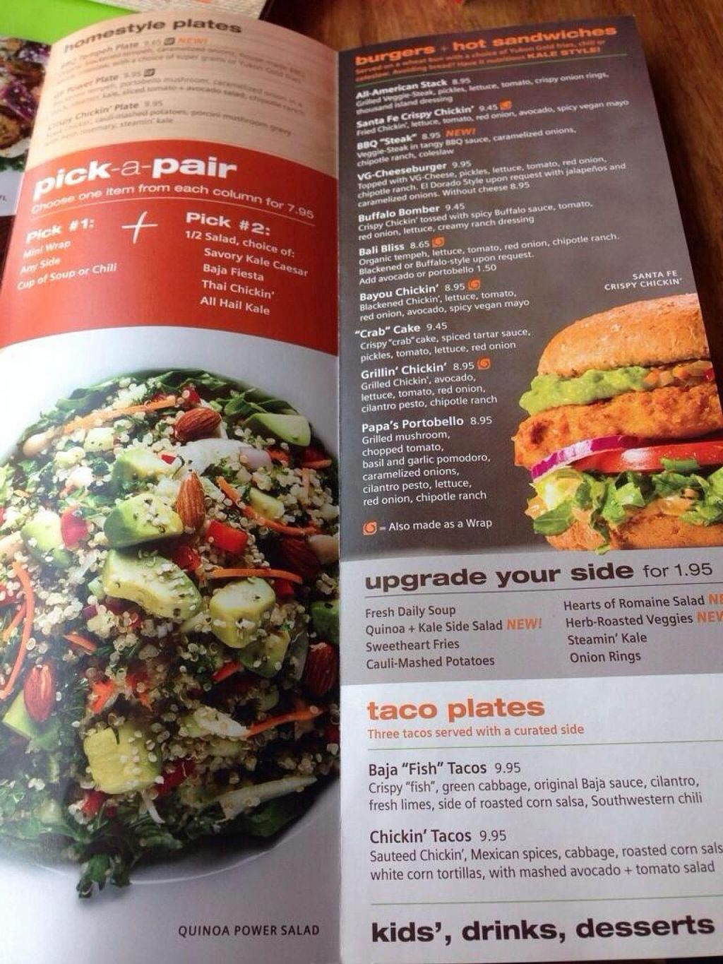 """Photo of Veggie Grill  by <a href=""""/members/profile/Carioquinha17"""">Carioquinha17</a> <br/>Their menu.  <br/> May 11, 2014  - <a href='/contact/abuse/image/47261/69829'>Report</a>"""