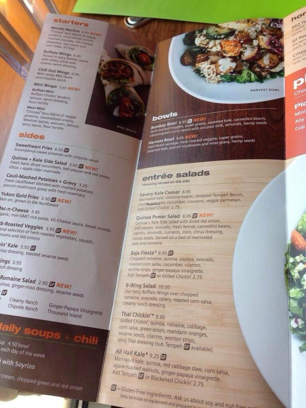 """Photo of Veggie Grill  by <a href=""""/members/profile/Carioquinha17"""">Carioquinha17</a> <br/>Their menu again <br/> May 11, 2014  - <a href='/contact/abuse/image/47261/69830'>Report</a>"""
