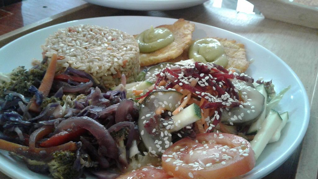 """Photo of Vegan House  by <a href=""""/members/profile/paisachimba"""">paisachimba</a> <br/>Great vegan lunch menu <br/> August 31, 2017  - <a href='/contact/abuse/image/47270/299274'>Report</a>"""