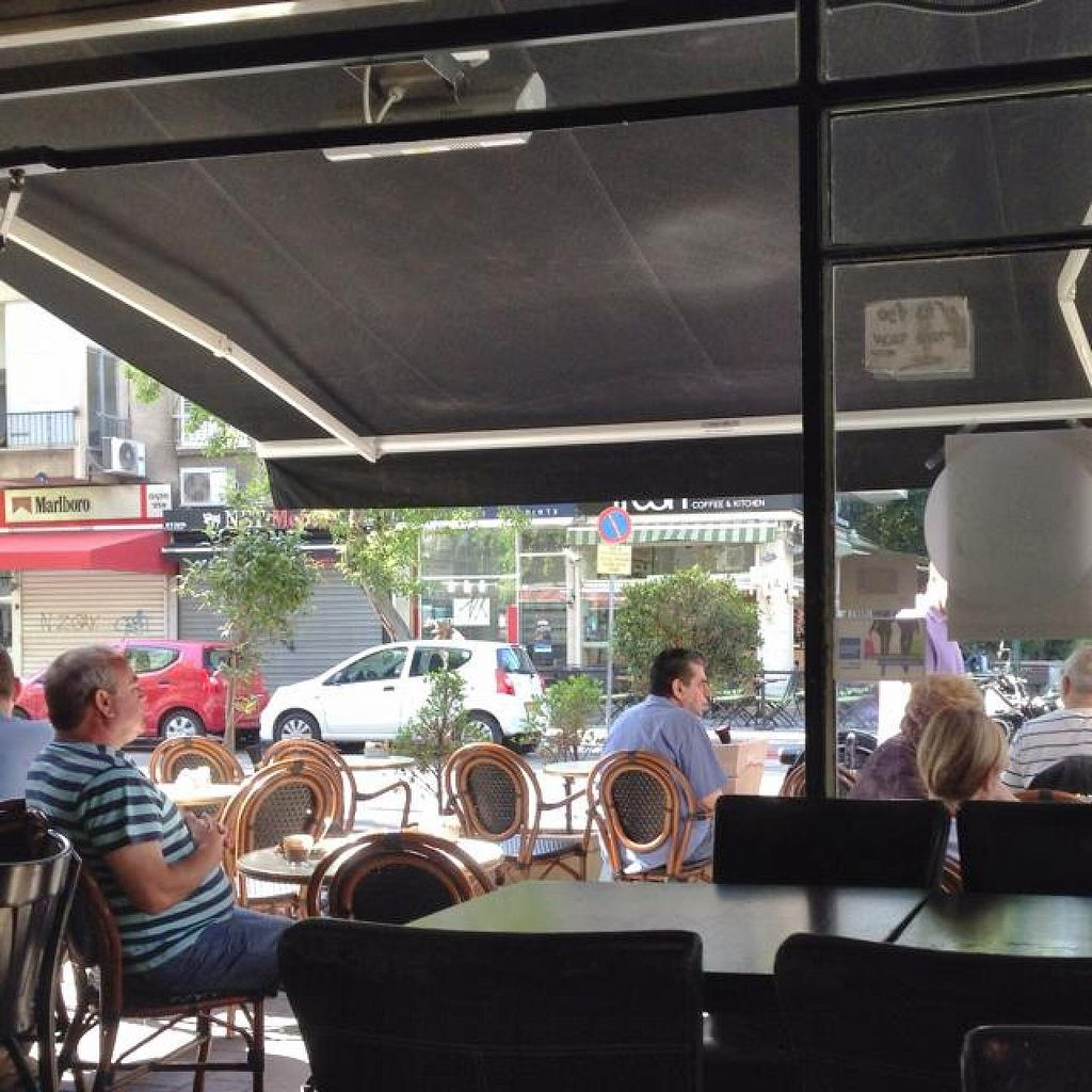 """Photo of Cafe Cafe - Yehuda Maccabee  by <a href=""""/members/profile/Brok%20O.%20Lee"""">Brok O. Lee</a> <br/>From inside looking out  <br/> May 12, 2014  - <a href='/contact/abuse/image/47277/69884'>Report</a>"""