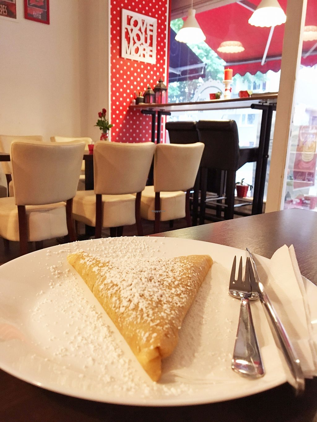 """Photo of Roka Bell Eis Cafe and Creperie  by <a href=""""/members/profile/Dani%C3%ABlleRozeboom"""">DaniëlleRozeboom</a> <br/>Vegan nutella Crêpe <br/> July 2, 2017  - <a href='/contact/abuse/image/47299/275966'>Report</a>"""