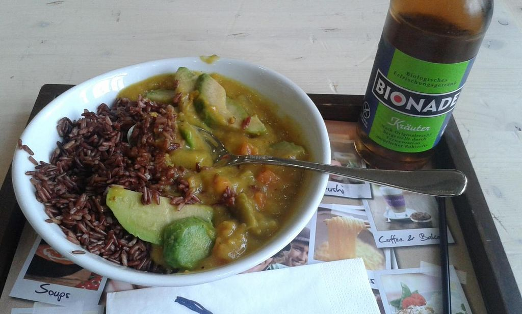 "Photo of My Indigo  by <a href=""/members/profile/acridator"">acridator</a> <br/>Brown Rice with curry, avocado, sweet potatoes and aubergine <br/> July 12, 2014  - <a href='/contact/abuse/image/47313/73837'>Report</a>"
