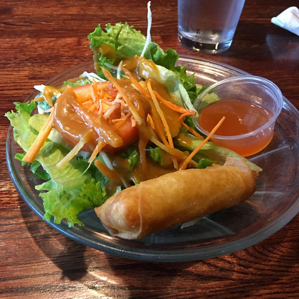 "Photo of Bangkok Garden  by <a href=""/members/profile/LauraFlowers"">LauraFlowers</a> <br/>Ginger dressing, vegetable spring roll.  <br/> February 4, 2016  - <a href='/contact/abuse/image/47314/134961'>Report</a>"