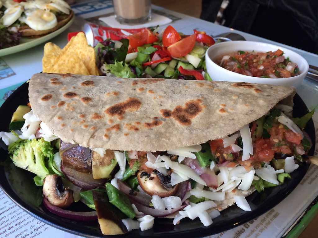 """Photo of Chirimoya Healthy Food Station  by <a href=""""/members/profile/Arkie"""">Arkie</a> <br/>Open panino with spelt bread <br/> January 5, 2017  - <a href='/contact/abuse/image/47326/208402'>Report</a>"""