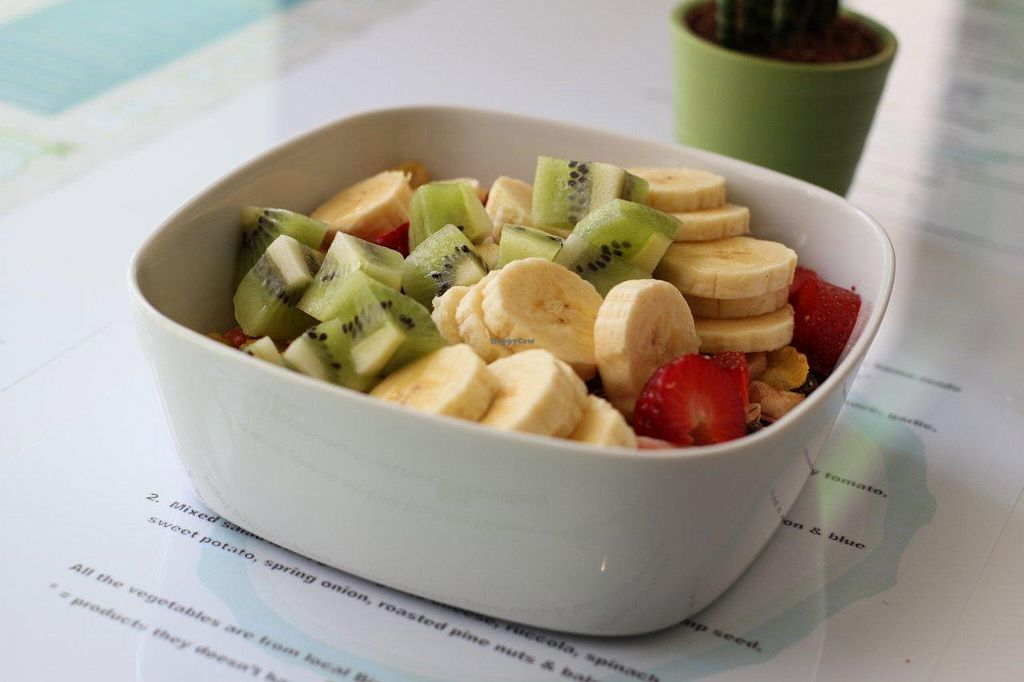 """Photo of Chirimoya Healthy Food Station  by <a href=""""/members/profile/somtours"""">somtours</a> <br/>Breakfast at Chirimoya. IT'S ALL ORGANIC! IT'S ALL BIO! <br/> May 19, 2014  - <a href='/contact/abuse/image/47326/70259'>Report</a>"""