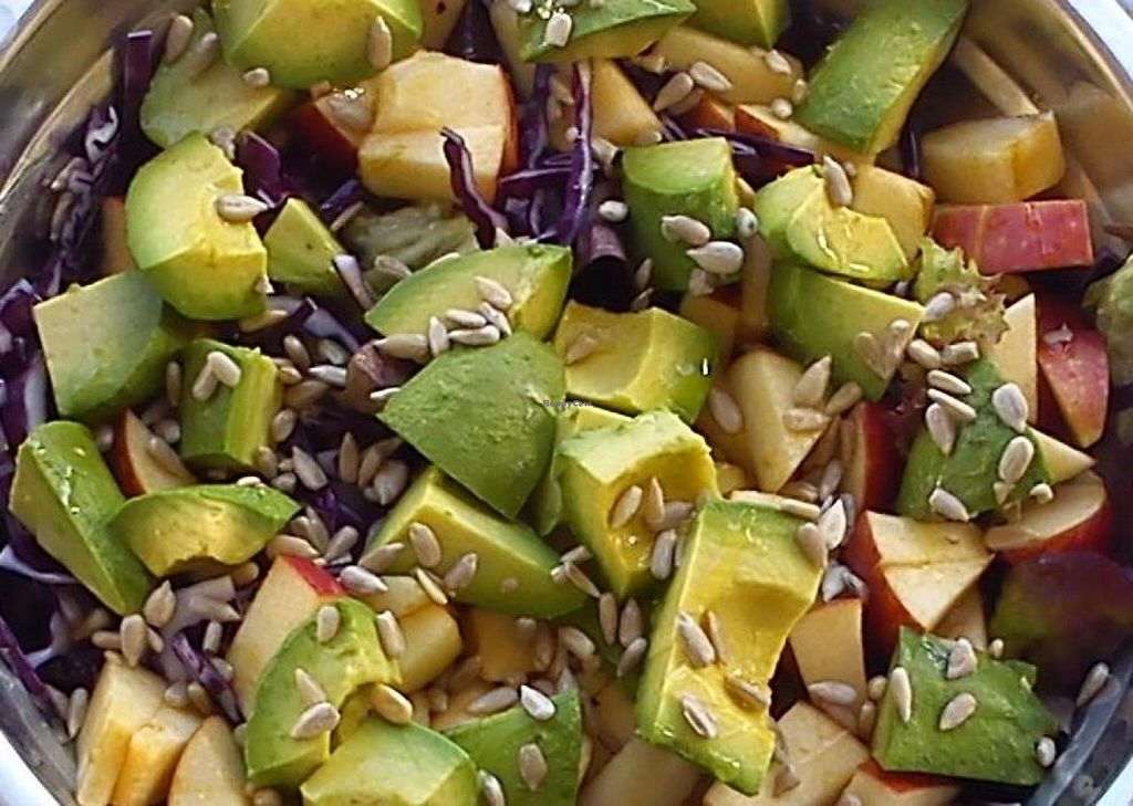 """Photo of Chirimoya Healthy Food Station  by <a href=""""/members/profile/somtours"""">somtours</a> <br/>Mixed raw salad at Chirimoya. IT'S ALL ORGANIC! IT'S ALL BIO! <br/> May 19, 2014  - <a href='/contact/abuse/image/47326/70262'>Report</a>"""