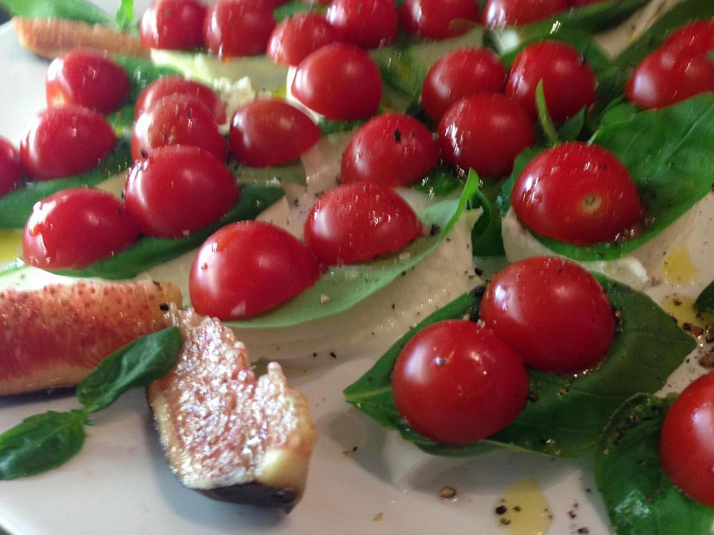 """Photo of El Naturista  by <a href=""""/members/profile/Farsante"""">Farsante</a> <br/>The store does caterings as well, for private and business occasions. Here an example of canapés on pumpkin-seeds-bread with organic cheese, salad leaf, tomato and cress <br/> August 15, 2014  - <a href='/contact/abuse/image/47328/77024'>Report</a>"""