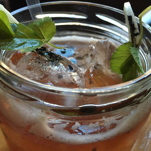 """Photo of Soda  by <a href=""""/members/profile/mike1366"""">mike1366</a> <br/>Gin, cherry, sea salt, charred celery <br/> June 10, 2017  - <a href='/contact/abuse/image/47394/267698'>Report</a>"""