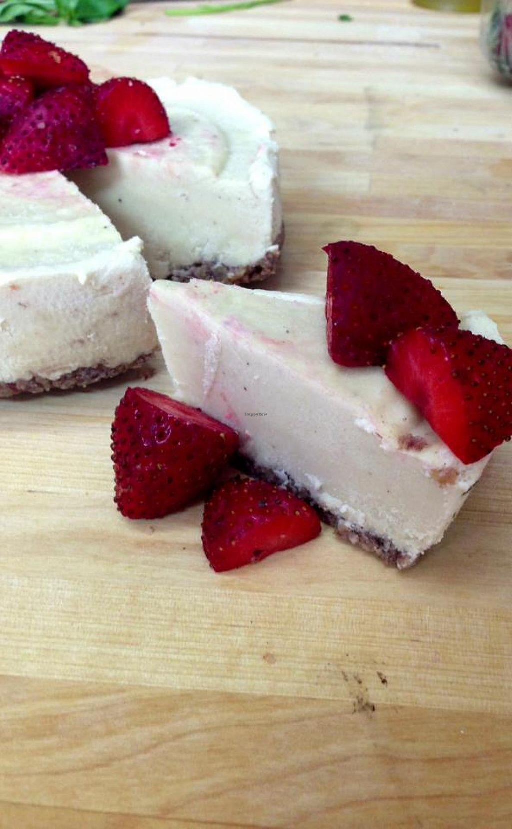 """Photo of CLOSED: Yuli's Lunch Box  by <a href=""""/members/profile/yossiv"""">yossiv</a> <br/>Cashew cream cake garnished with straberries <br/> May 16, 2014  - <a href='/contact/abuse/image/47397/70098'>Report</a>"""