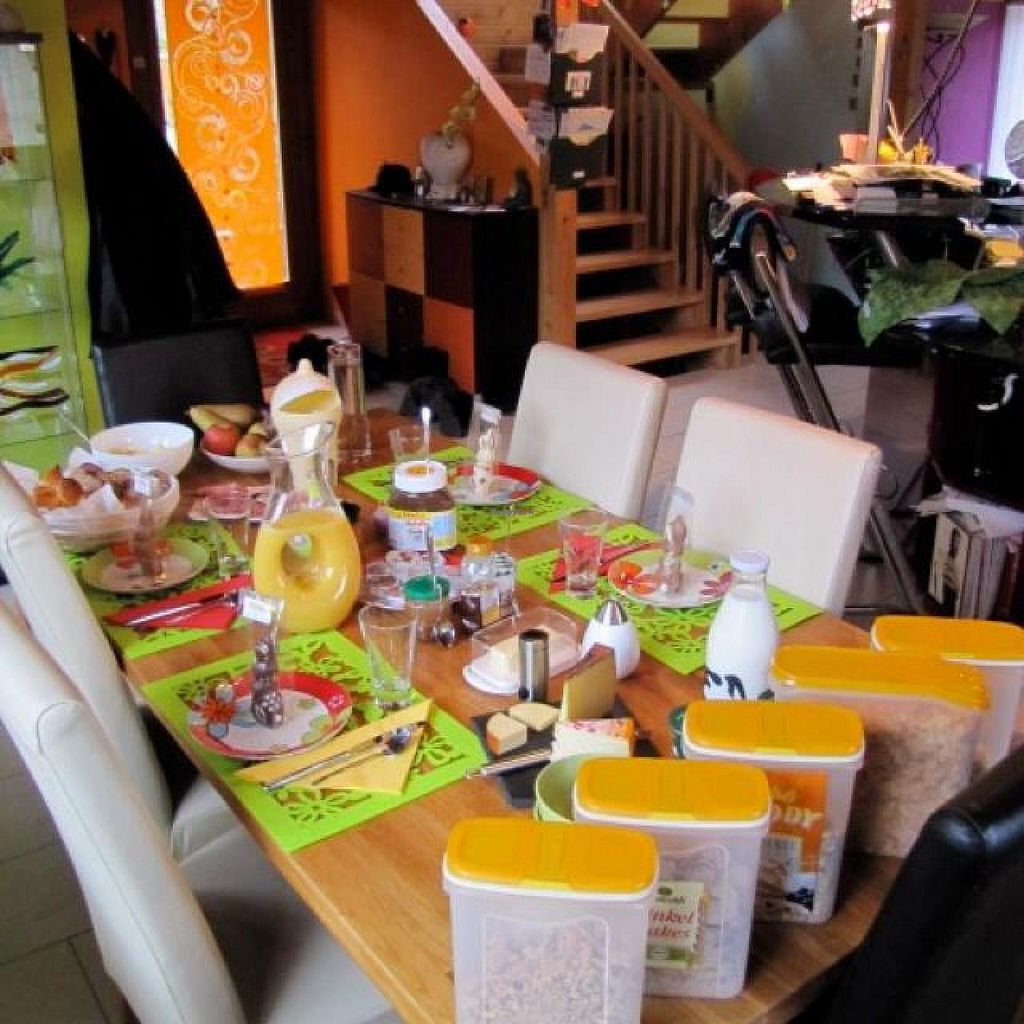 """Photo of Keller's Bed and Breakfast  by <a href=""""/members/profile/RomanKellerbnb"""">RomanKellerbnb</a> <br/>Breakfast table <br/> July 10, 2014  - <a href='/contact/abuse/image/47403/73653'>Report</a>"""