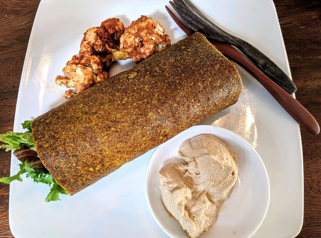 """Photo of The Seeds of Life  by <a href=""""/members/profile/EdanChapman"""">EdanChapman</a> <br/>""""Egg and bacon"""" burrito with buffalo wings. Amazing <br/> November 17, 2017  - <a href='/contact/abuse/image/47407/326367'>Report</a>"""