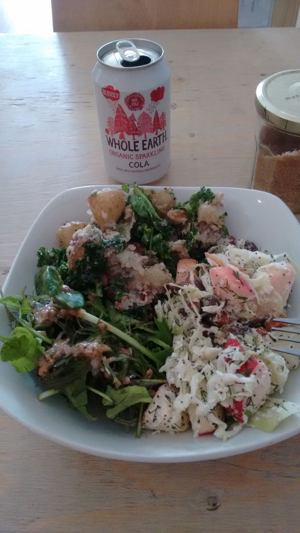 """Photo of The Project Cafe  by <a href=""""/members/profile/craigmc"""">craigmc</a> <br/>Bowl of three salads <br/> September 9, 2015  - <a href='/contact/abuse/image/47424/117012'>Report</a>"""
