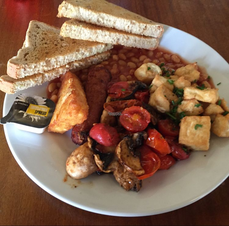 """Photo of Cherry Reds Cafe and Bar  by <a href=""""/members/profile/The%20London%20Vegan"""">The London Vegan</a> <br/>Hearty Vegan Breakfast <br/> October 3, 2016  - <a href='/contact/abuse/image/47425/179428'>Report</a>"""