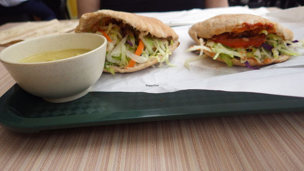 """Photo of Fill a Pita  by <a href=""""/members/profile/deadpledge"""">deadpledge</a> <br/>Falafel Pita and Fava Bean Pita with hummus side <br/> June 7, 2016  - <a href='/contact/abuse/image/47441/152682'>Report</a>"""