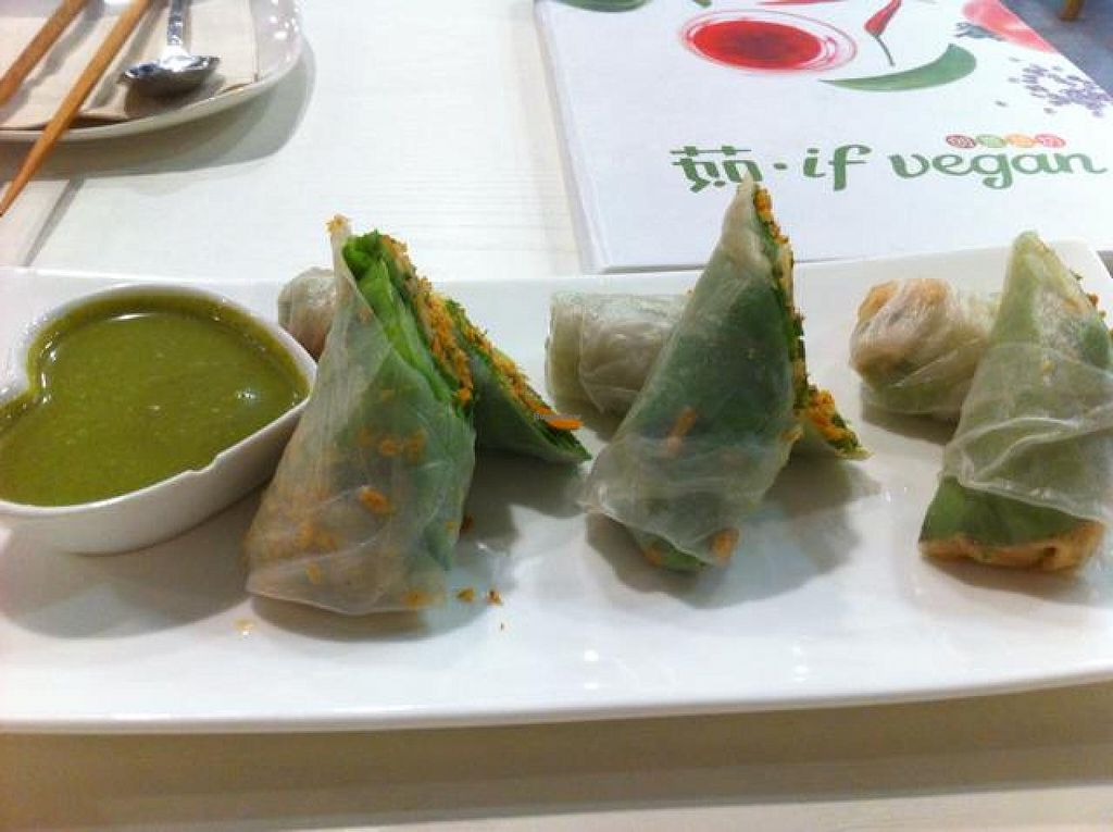"Photo of CLOSED: If Vegan  by <a href=""/members/profile/Jrosworld"">Jrosworld</a> <br/>Vietnamese spring roll, ¥22 <br/> October 5, 2014  - <a href='/contact/abuse/image/47447/82187'>Report</a>"