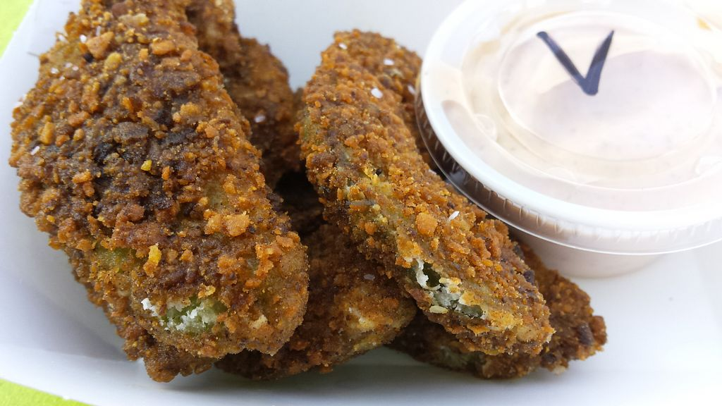 """Photo of The Wild Burrito  by <a href=""""/members/profile/American%20Vegan"""">American Vegan</a> <br/>Avocado Fries <br/> June 23, 2016  - <a href='/contact/abuse/image/47450/155644'>Report</a>"""