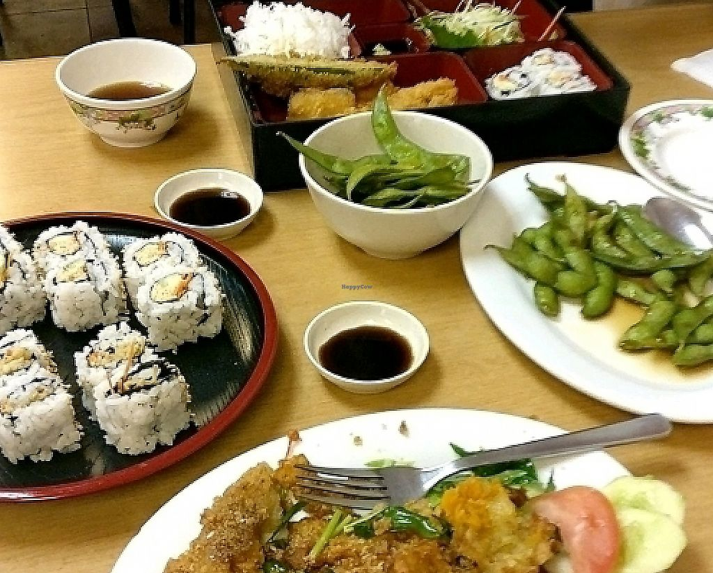 "Photo of Shin Yu Japanese and Chinese Vegetarian  by <a href=""/members/profile/NatashaRishworth"">NatashaRishworth</a> <br/>Our feast!  <br/> March 28, 2017  - <a href='/contact/abuse/image/47469/268559'>Report</a>"