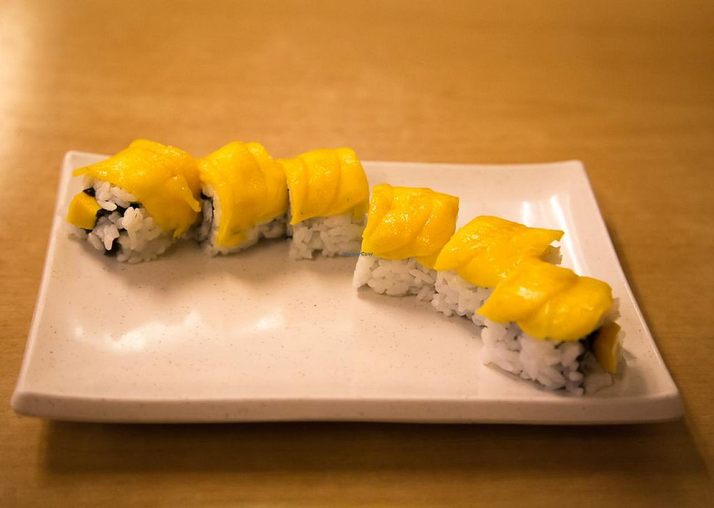 "Photo of Shin Yu Japanese and Chinese Vegetarian  by <a href=""/members/profile/AndyT"">AndyT</a> <br/>Mango Maki (vegan if ordered without Mayonnaise) <br/> July 15, 2014  - <a href='/contact/abuse/image/47469/74071'>Report</a>"
