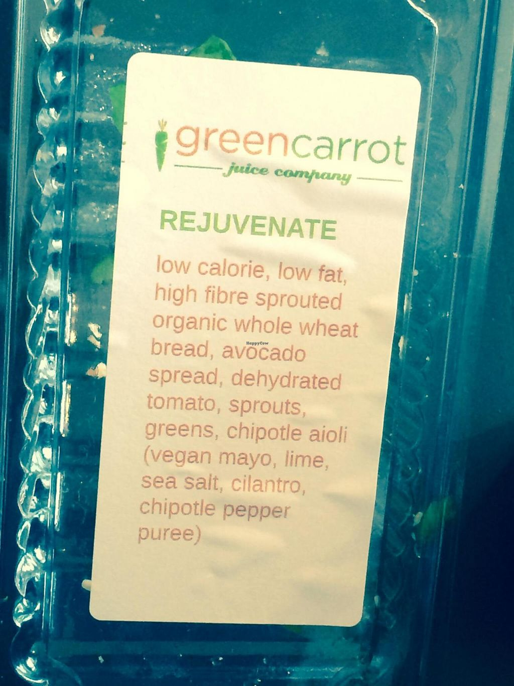 """Photo of Green Carrot Juice Company  by <a href=""""/members/profile/PrairieEarth1"""">PrairieEarth1</a> <br/>Rejuvenate sandwich <br/> May 20, 2014  - <a href='/contact/abuse/image/47489/70384'>Report</a>"""