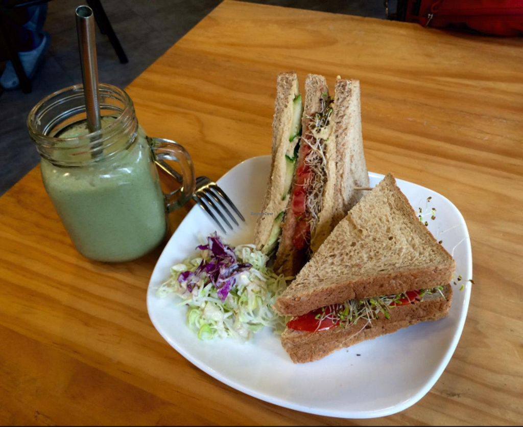 "Photo of Ooh Cha Cha  by <a href=""/members/profile/helene%20drouin"">helene drouin</a> <br/>hummus sandwich and tropical bliss smoothie <br/> May 25, 2015  - <a href='/contact/abuse/image/47521/103416'>Report</a>"