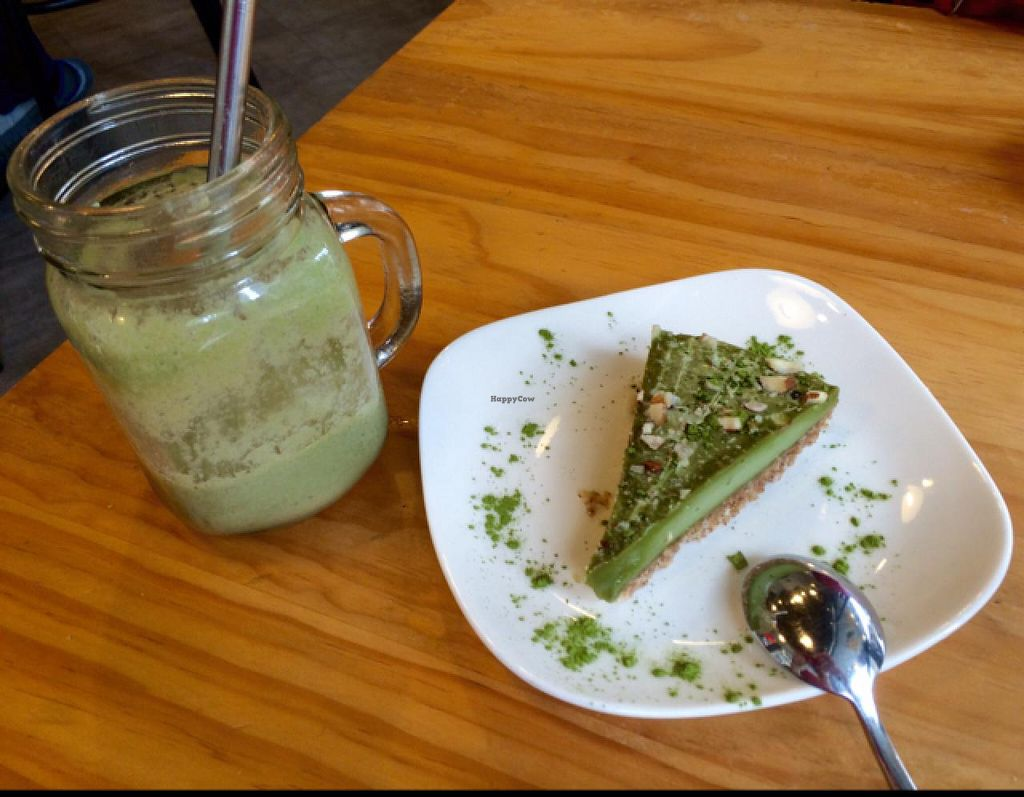 "Photo of Ooh Cha Cha  by <a href=""/members/profile/helene%20drouin"">helene drouin</a> <br/>matcha cream cake & tropical bliss smoothie <br/> May 25, 2015  - <a href='/contact/abuse/image/47521/103417'>Report</a>"