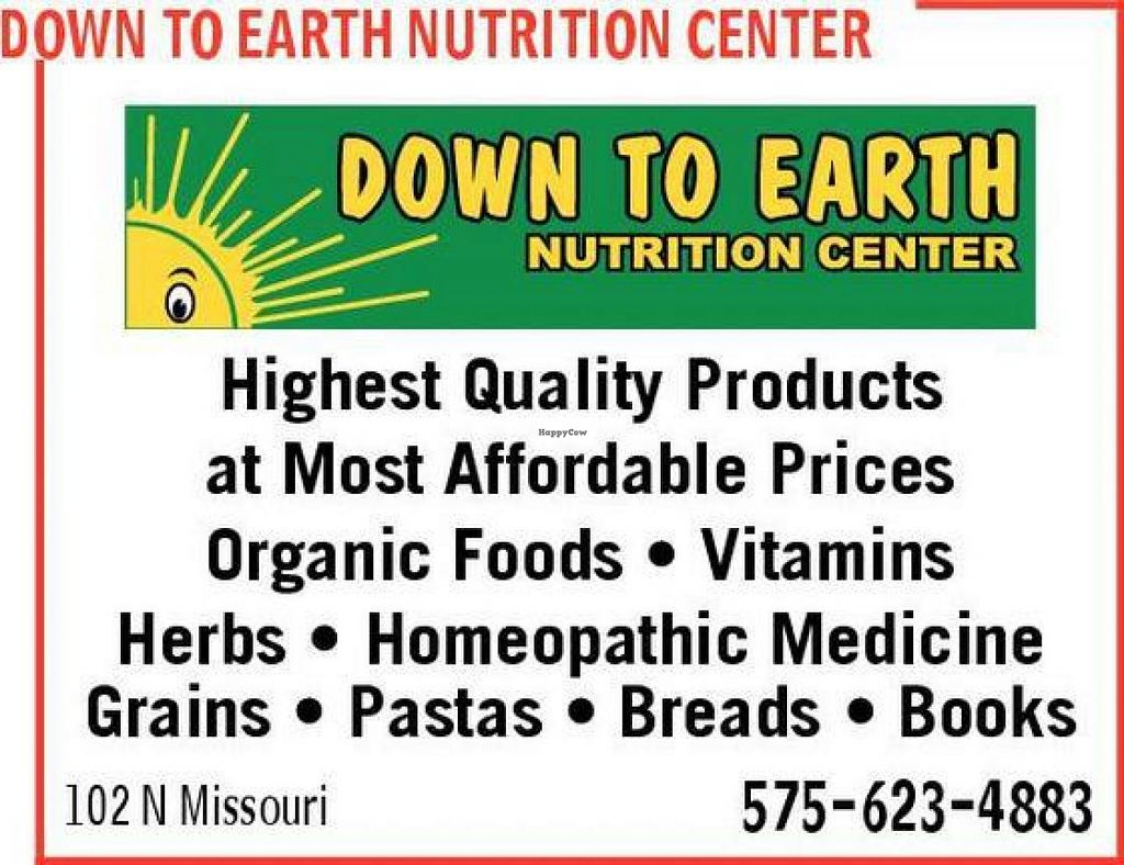 """Photo of Down to Earth Nutrition Center  by <a href=""""/members/profile/community"""">community</a> <br/>Down to Earth Nutrition Center <br/> May 22, 2014  - <a href='/contact/abuse/image/47527/70451'>Report</a>"""