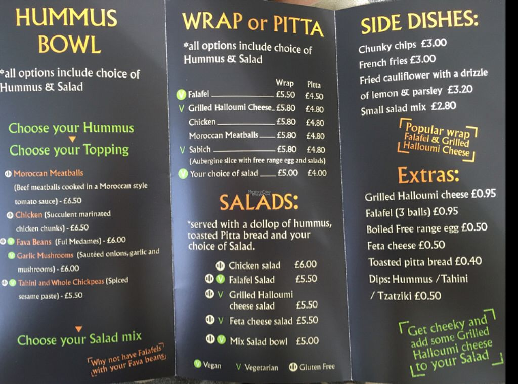 """Photo of The Cheeky Pea  by <a href=""""/members/profile/Jrosworld"""">Jrosworld</a> <br/>The menu <br/> August 4, 2016  - <a href='/contact/abuse/image/47533/165429'>Report</a>"""