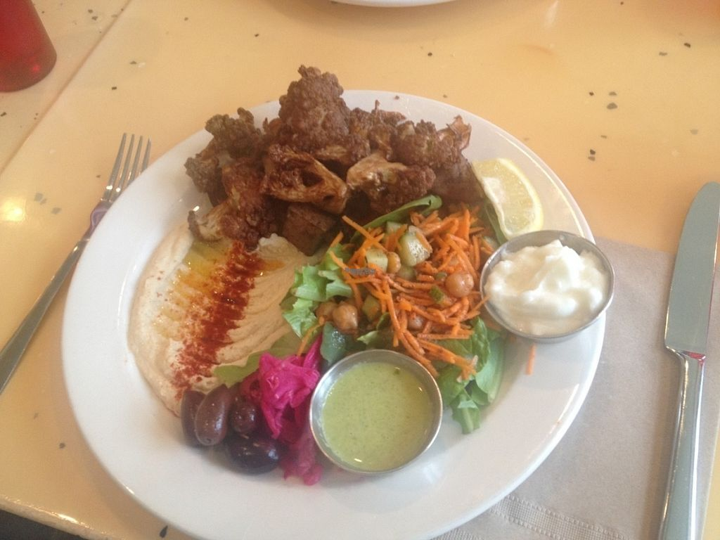 """Photo of Nuba Cafe - Mount Pleasant  by <a href=""""/members/profile/o0Carolyn0o"""">o0Carolyn0o</a> <br/>Najib's Special. Omg the best cauliflower! <br/> September 26, 2016  - <a href='/contact/abuse/image/47561/178084'>Report</a>"""
