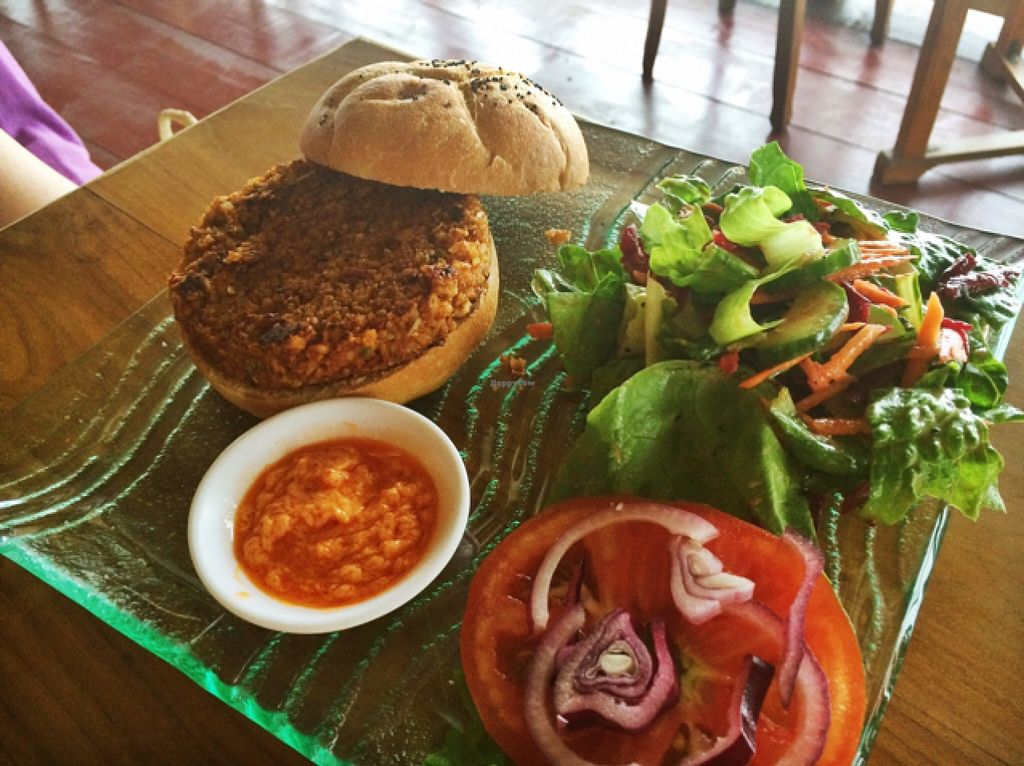 """Photo of Leaf Eaters  by <a href=""""/members/profile/Siup"""">Siup</a> <br/>veggie burger (vegan) <br/> February 26, 2016  - <a href='/contact/abuse/image/47605/137909'>Report</a>"""
